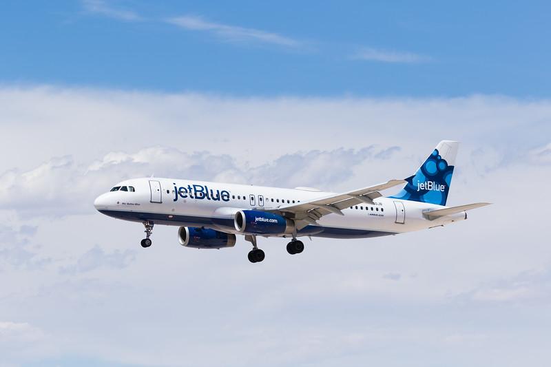 -(Airline) JetBlue<br /> -(Aircraft) Airbus A320-200<br /> -(Aircraft Registration) N580JB<br /> -(Flight Number) JetBlue 411<br /> -(Flight Route) John F. Kennedy International Airport, NY to McCarran International Airport, NV