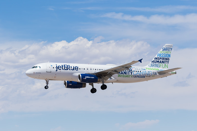 -(Airline) JetBlue Airways<br /> -(Aircraft) Airbus A320-200<br /> -(Aircraft Registration) N598JB<br /> -(Flight Number) JetBlue 877<br /> -(Flight Route) Boston Logan International Airport, MA to McCarran International Airport, NV
