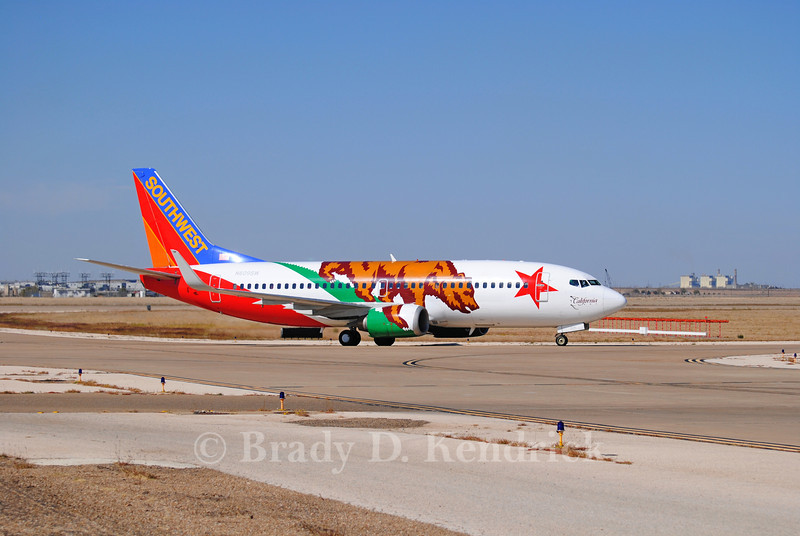 Airline: Southwest Airlines<br /> <br /> Aircraft: Boeing 737-300<br /> <br /> Special Note: California state flag paint job<br /> <br /> Photo Location: Rick Husband International Airport in Amarillo, Texas