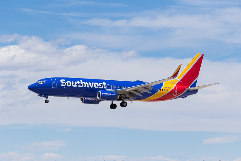 -(Airline) Southwest Airlines<br /> -(Aircraft) Boeing 737-800<br /> -(Aircraft Registration) N8692F<br /> -(Flight Number) Southwest 2039<br /> -(Flight Route) Fort Lauderdale International Airport, FL to McCarran International Airport, NV