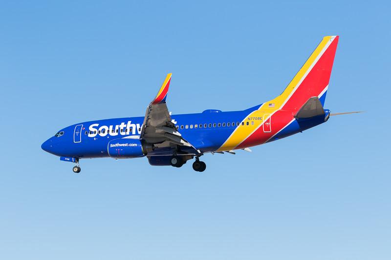 -(Airline) Southwest Airlines<br /> -(Aircraft) Boeing 737-700<br /> -(Aircraft Registration) N7708E<br /> -(Flight Number) Southwest 1964<br /> -(Flight Route)  San Jose International Airport, CA to McCarran International Airport, NV