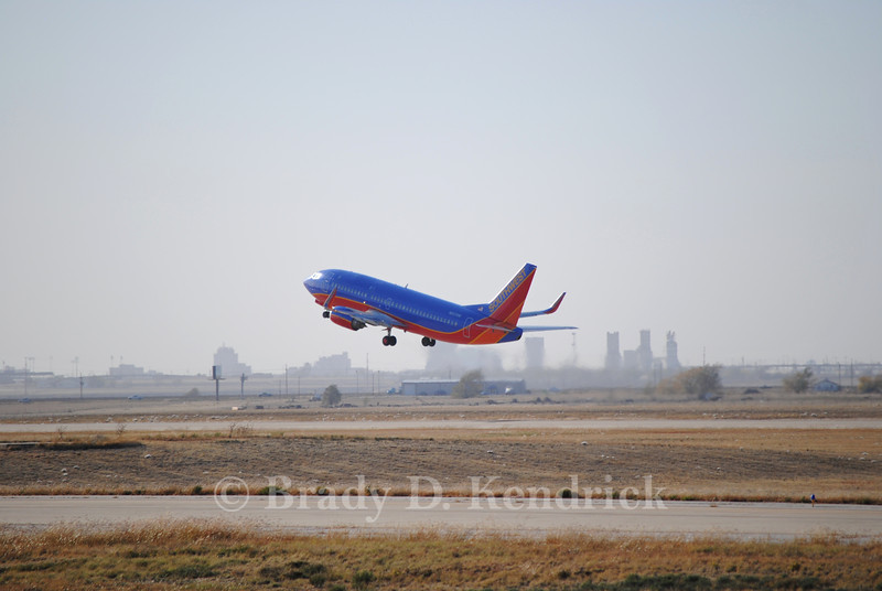 Airline: Southwest Airlines<br /> <br /> Aircraft: Boeing 737-700<br /> <br /> Photo Location: Rick Husband International Airport in Amarillo, Texas