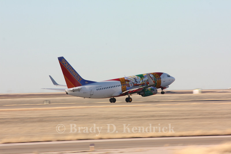 Airline: Southwest Airlines<br /> <br /> Aircraft Type: Boeing 737-700<br /> <br /> Special Note:  Florida state flag paint job<br /> <br /> Photo Location: Rick Husband International Airport in Amarillo, Texas