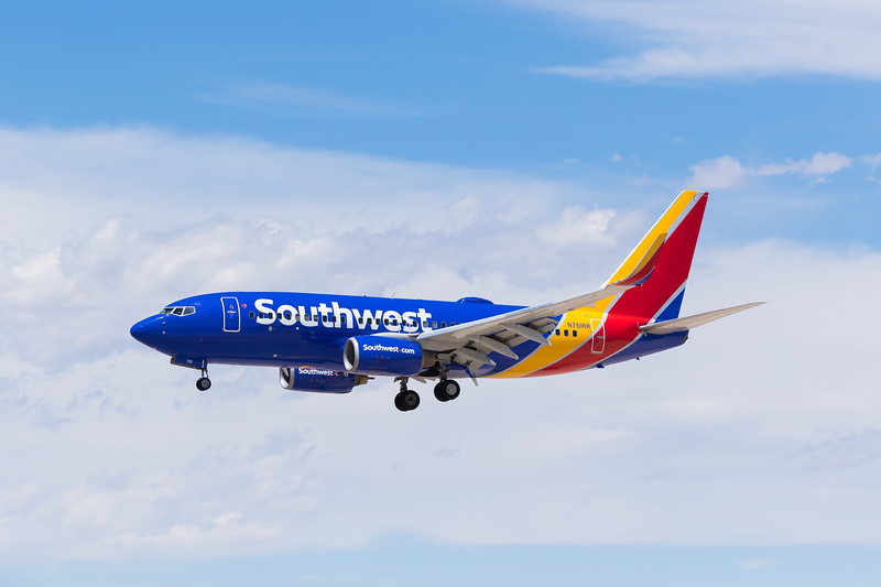 -(Airline) Southwest Airlines<br /> -(Aircraft) Boeing 737-700<br /> -(Aircraft Registration) N761RR<br /> -(Flight Number) Southwest 2312 <br /> -(Flight Route) Will Rodgers World Airport, OK to McCarran International Airport, NV