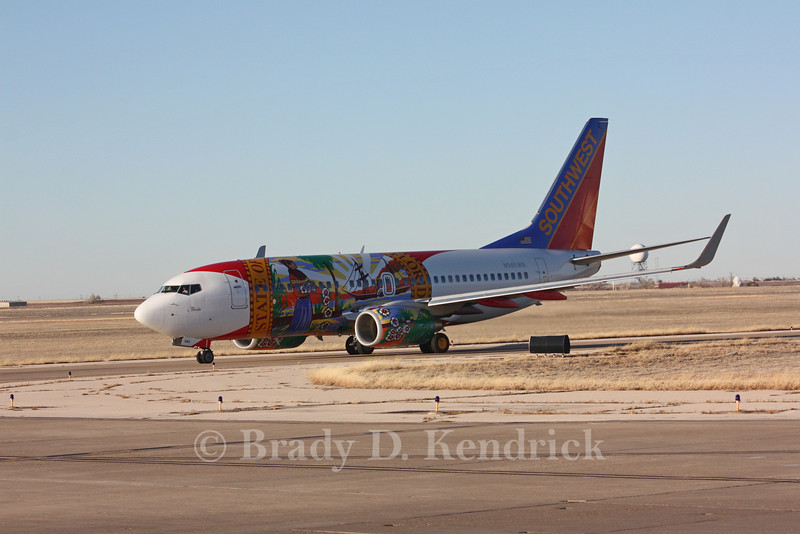 Airline: Southwest Airlines<br /> <br /> Aircraft Type: Boeing 737-700<br /> <br /> Special Note: Florida state flag paint job<br /> <br /> Photo Location: Rick Husband International Airport in Amarillo, Texa