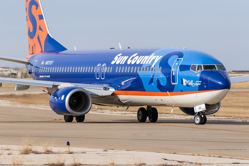 -(Airline) Sun Country Airlines <br /> -(Aircraft) Boeing 737-800<br /> -(Aircraft Registration) N821SY<br /> -(Flight Number) Sun Country Airlines Flight 8036<br /> -(Flight Route) San Angelo Regional Airport, Texas to Rick Husband Amarillo International Airport, Texas