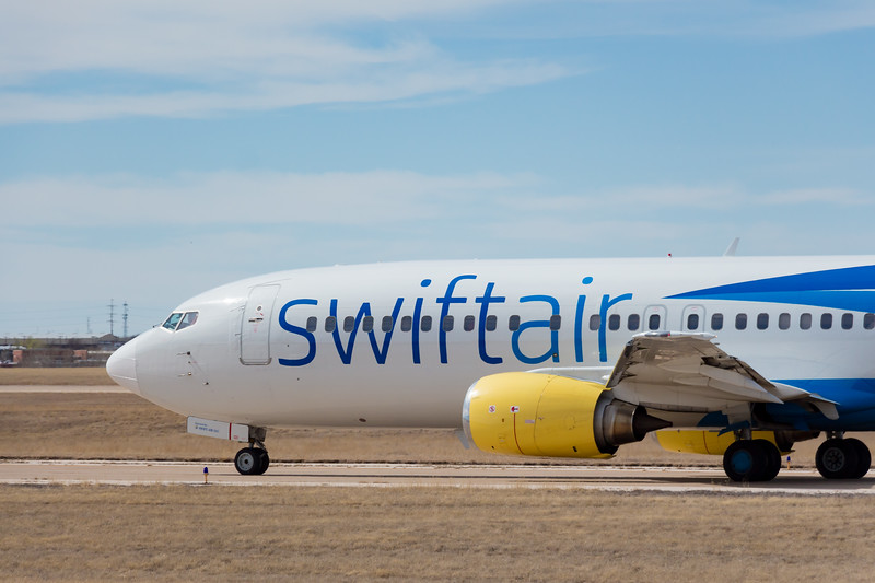 -(Airline) Swift Air<br /> -(Aircraft) Boeing 737-400