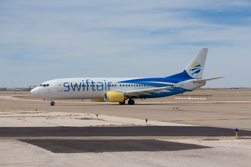 -(Airline) Swift Air <br /> -(Aircraft) Boeing 737-400