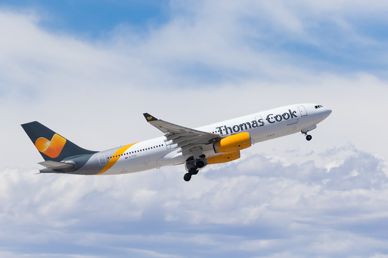 -(Airline) Thomas Cook Airlines<br /> -(Aircraft) Airbus A330-200 <br /> -(Aircraft Registration) G-TCXC<br /> -(Flight Number) Thomas Cook 2719<br /> -(Flight Route) McCarran International Airport, NV to Manchester Airport, England