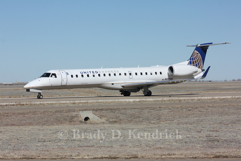 Airline:  United Express<br /> <br /> AircraftType:  Embraer EMB-145XR  <br /> <br /> Photo Location:  Rick Husband International in Amarillo, Texas