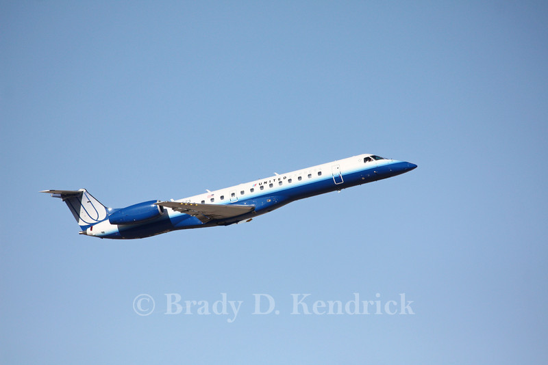 Airline: United Express<br /> <br /> Aircraft Type: Embraer ERJ-145<br /> <br /> Photo Location: Rick Husband International Airport in Amarillo, Texa