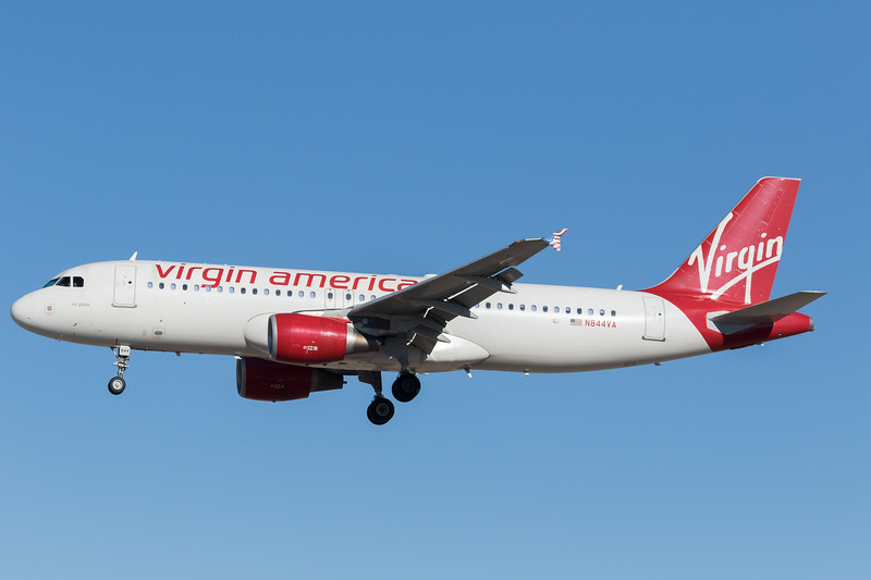 -(Airline) Virgin America <br /> -(Aircraft) Airbus A320-200 <br /> -(Aircraft Registration) N844VA<br /> -(Flight Number) Virgin America 488<br /> -(Flight Route) Los Angeles International Airport, CA to McCarran International Airport, NV