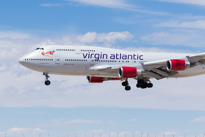-(Airline) Virgin Atlantic <br /> -(Aircraft) Boeing 747-400<br /> -(Aircraft Registration) G-VROS<br /> -(Flight Number) Virgin Atlantic 85<br /> -(Flight Route) Manchester Airport, England to McCarran International Airport, NV
