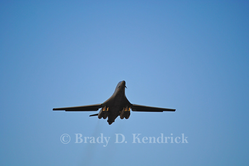 "-(Aircraft) Rockwell B-1B Lancer<br /> -(Nation & Service) United States Air Force<br /> -(Squadron) 9th Bomb Squadron ""Bats""<br /> -(Home Base) Dyess Air Force Base, Texas"