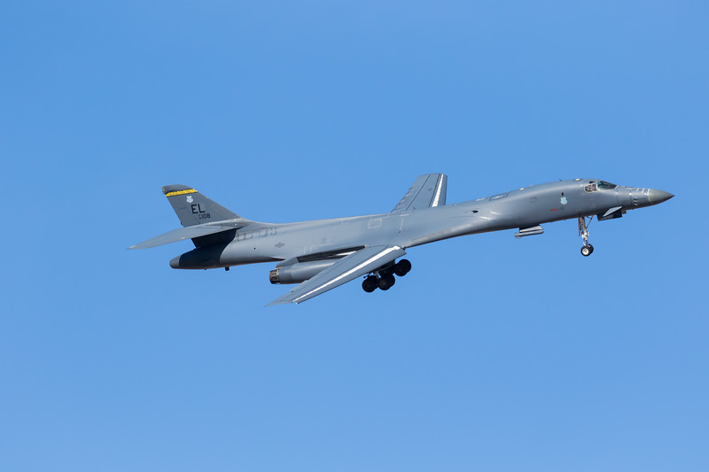 """-(Aircraft) Rockwell B-1B Lancer<br /> -(Nation & Service) United States Air Force<br /> -(Squadron) 37th Bomb Squadron """"Tigers"""" <br /> -(Home Base) Ellsworth Air Force Base, South Dakota"""