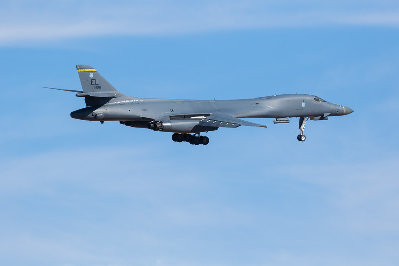 "-(Aircraft) Rockwell B-1B Lancer<br /> -(Nation & Service) United States Air Force<br /> -(Squadron) 37th Bomb Squadron ""Tigers"" <br /> -(Home Base) Ellsworth Air Force Base, South Dakota"