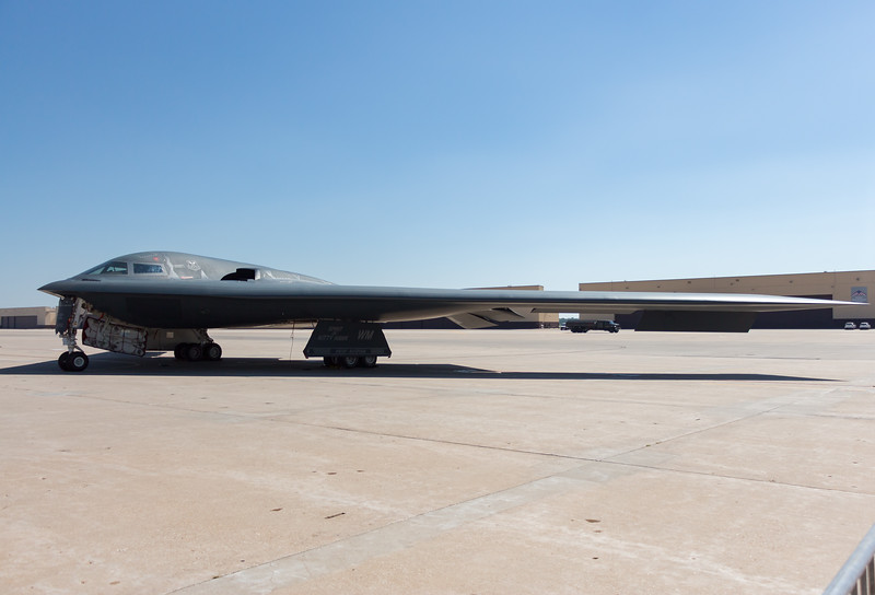 "-(Aircraft) Northrup Grumman B-2A Spirit<br /> -(Nation & Service) United States Air Force<br /> -(Squadron) 13th Bomb Squadron ""The Devil's Own Grim Reapers""<br /> -(Home Base) Whiteman Air Force Base, Missouri<br /> -(Aircraft Name) The Spirit of Kitty Hawk"