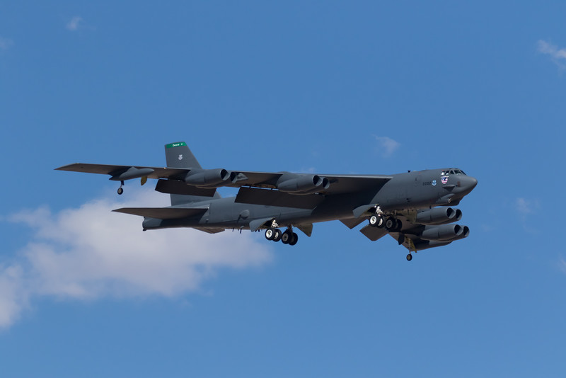 "-(Aircraft) Boeing B-52H Stratofortress<br /> -(Nation & Service) United States Air Force<br /> -(Squadron) 96th Bomb Squadron ""Buccaneers""<br /> -(Home Base) Barksdale Air Force Base, Louisiana"