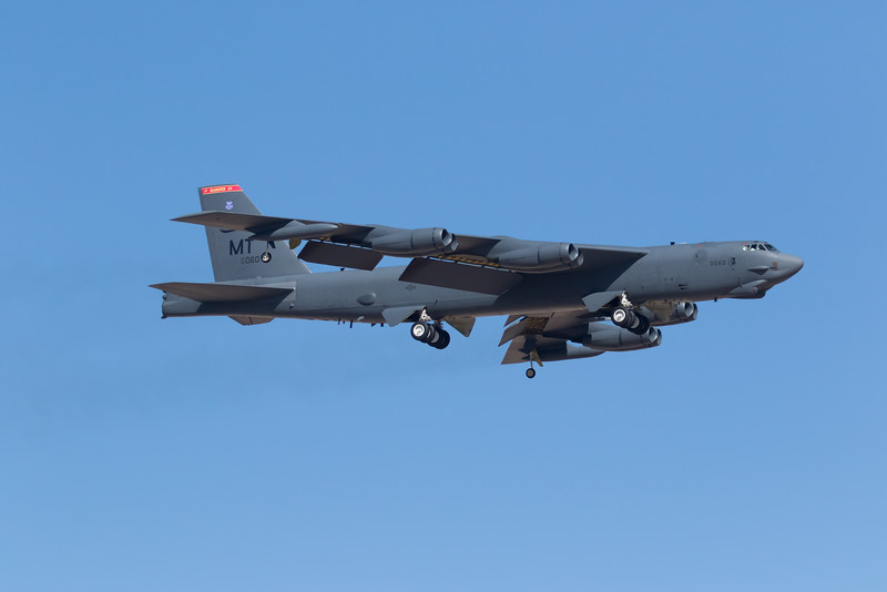 "-(Aircraft) Boeing B-52H Stratofortress<br /> -(Nation & Service) United States Air Force<br /> -(Squadron) 23rd Bomb Squadron ""Bomber Barons"" <br /> -(Home Base) Minot Air Force Base, North Dakota"