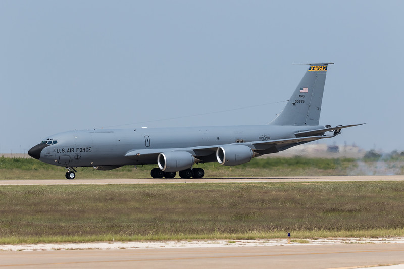 "-(Aircraft) Boeing KC-135R Stratotanker <br /> -(Nation & Service) United States Air Force<br /> -(Squadron) 117th Air Refueling Squadron ""Kansas Coyotes"" <br /> -(Home Base) Topeka Regional Airport, Kansas"