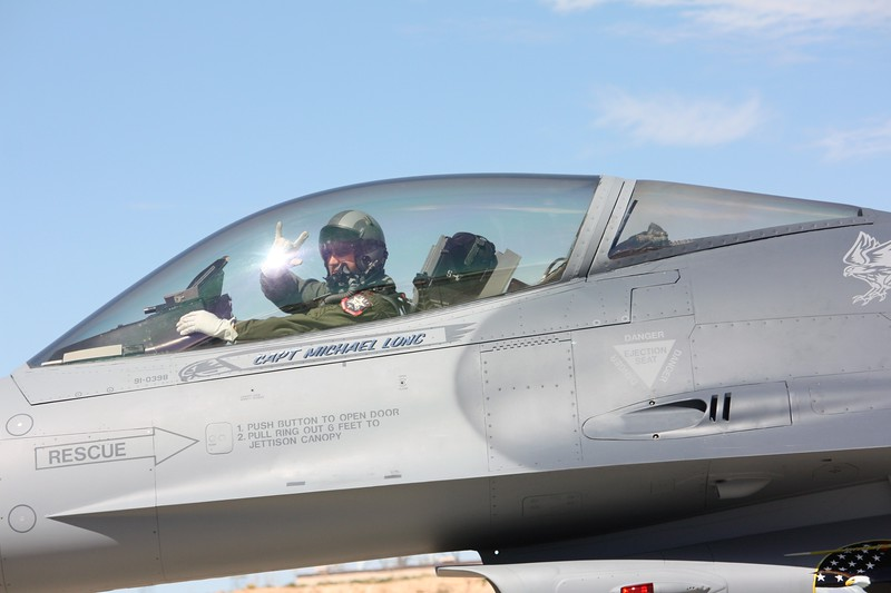 """-(Aircraft) General Dynamics F-16C Fight <br /> -(Nation & Service) United States Air Force<br /> -(Squadron) 77th Fighter Squadron """"Gamblers""""<br /> -(Home Base) Shaw Air Force, South Carolina"""