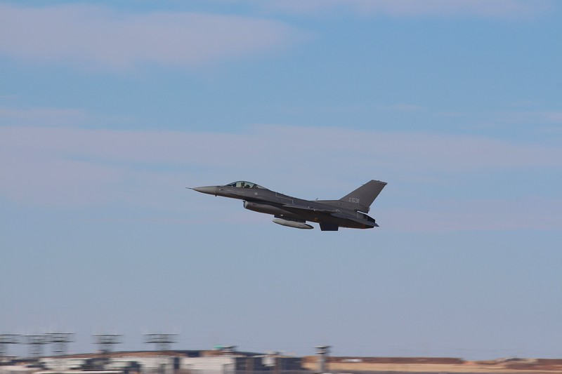 """-(Aircraft) General Dynamics F-16CJ Fighting Falcon<br /> -(Nation & Service) United States Air Force<br /> -(Squadron) 157th Fighter Squadron """"Swamp Foxes""""<br /> -(Home Base) McEntire Joint National Guard Base, South Carolina"""