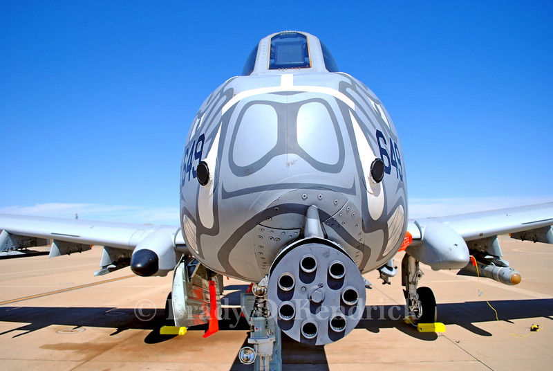 "-(Aircraft) Fairchild Republic A-10C Thunderbolt II<br /> -(Nation & Service) United States Air Force<br /> -(Squadron) 184th Fighter Squadron ""Flying Razorbacks""<br /> -(Home Base) Fort Smith Air National Guard Station, Arkansas"