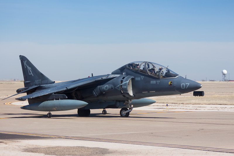 "-(Aircraft) McDonnell Douglas TAV-8B Harrier II<br /> -(Nation & Service) United States Marine Corps<br /> -(Squadron) Marine Attack Training Squadron 203 ""Hawks""<br /> -(Home Base) Marine Corps Air Station Cherry Point, North Carolina"
