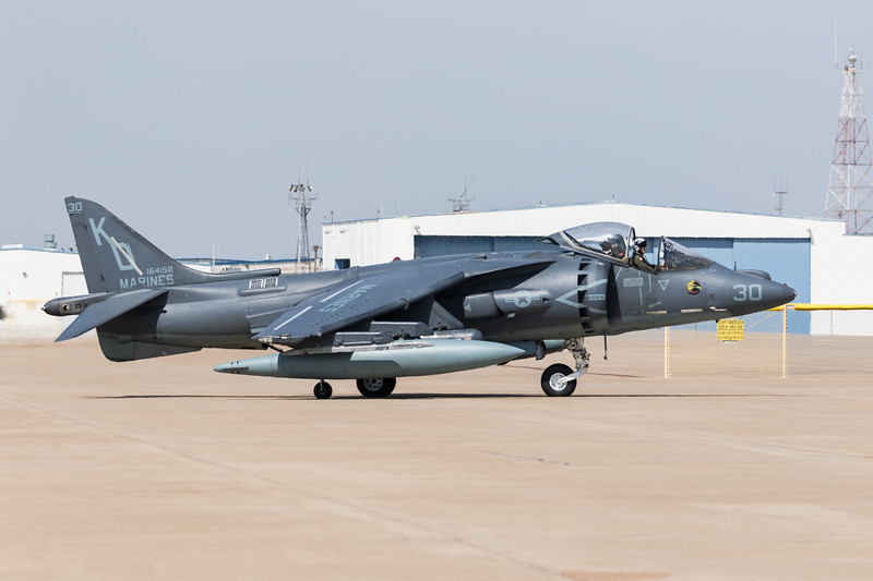 "-(Aircraft) McDonnell Douglas AV-8B Harrier II <br /> -(Nation & Service) United States Marine Corps<br /> -(Squadron) Marine Attack Training Squadron 203 ""Hawks""<br /> -(Home Base) Marine Corps Air Station Cherry Point, North Carolina"