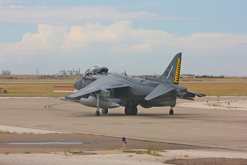 """-(Aircraft) McDonnell Douglas AV-8B Harrier II<br /> -(Nation & Service) United States Marine Corps<br /> -(Squadron) Marine Attack Squadron 542 """"Tigers""""<br /> -(Home Base) Marine Corps Air Station Cherry Point, North Carolina"""