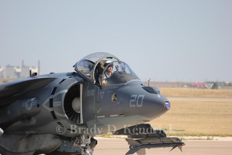 "-(Aircraft) McDonnell Douglas AV-8B Harrier II<br /> -(Nation & Service) United States Marine Corps<br /> -(Squadron) Marine Attack Training Squadron 203 ""Hawks""<br /> -(Home Base) Marine Corps Air Station Cherry Point, North Carolina"