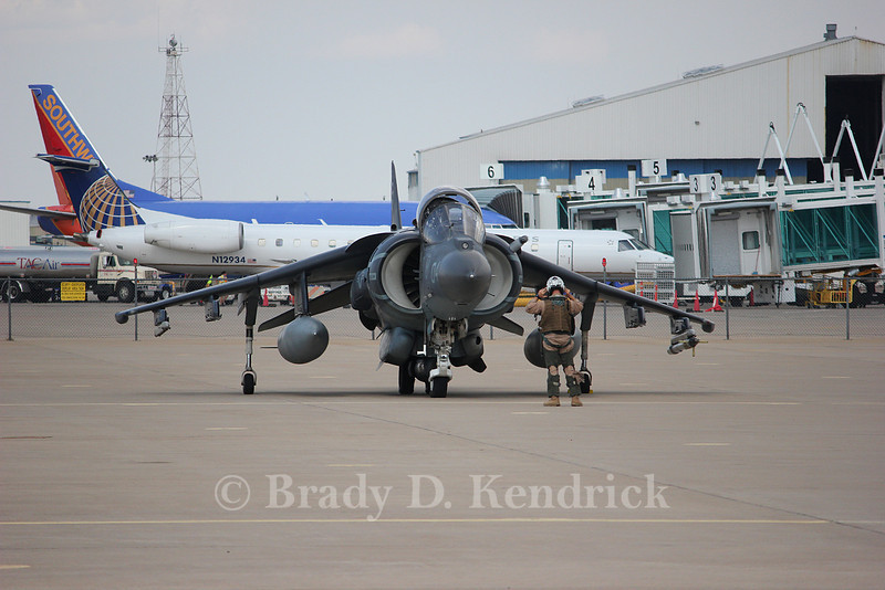 """-(Aircraft) McDonnell Douglas AV-8B Harrier II<br /> -(Nation & Service) United States Marine Corps<br /> -(Squadron) Marine Attack Squadron 231 """"Ace of Spades""""<br /> -(Home Base) Marine Corps Air Station Cherry Point, North Carolina"""