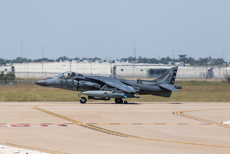"-(Aircraft) McDonnell Douglas AV-8B Harrier II<br /> -(Nation & Service) United States Marine Corps<br /> -(Squadron) Marine Attack Squadron 231 ""Ace of Spades"" <br /> -(Home Base) Marine Corps Air Station Cherry Point, North Carolina"