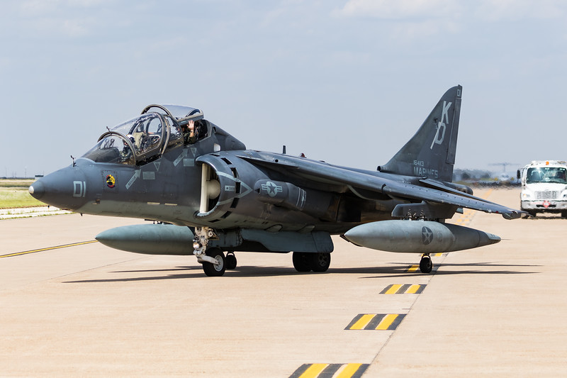 "-(Aircraft) McDonnell Douglas TAV-8B Harrier II <br /> -(Nation & Service) United States Marine Corps<br /> -(Squadron) Marine Attack Training Squadron 203 ""Hawks""<br /> -(Home Base) Marine Corps Air Station Cherry Point, North Carolina"
