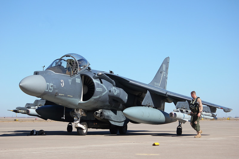 "-(Aircraft) McDonnell Douglas AV-8B Harrier II<br /> -(Nation & Service) United States Marine Corps<br /> -(Squadron) Marine Attack Squadron 223 ""Bulldogs"" <br /> -(Home Base) Marine Corps Air Station Cherry Point, North Carolina"