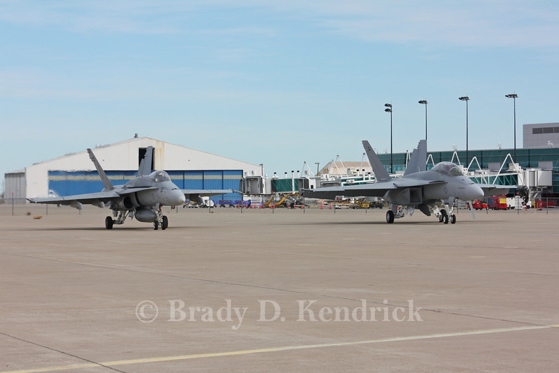 "-(Aircraft) Boeing F/A-18F Super Hornet & McDonnell Douglas F/A-18C Hornet<br /> -(Nation & Service) United States Navy<br /> -(Squadron) Strike Fighter Squadron 106 ""Gladiators"" & Unknown - New Production Aircraft<br /> -(Home Base) Naval Air Station Oceana, Virgina & Unknown - New Production Aircraft"