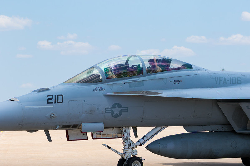 """-(Aircraft) Boeing F/A-18F Super Hornet<br /> -(Nation & Service) United States Navy<br /> -(Squadron) Strike Fighter Squadron 106 """"Gladiators"""" <br /> -(Home Base) Naval Air Station Oceana, Virginia"""