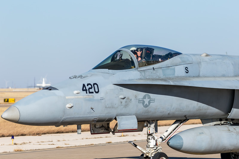 """-(Aircraft) McDonnell Douglas F/A-18C Hornet <br /> -(Nation & Service) United States Navy<br /> -(Squadron) Strike Fighter Squadron 204 """"River Rattlers"""" <br /> -(Home Base) Naval Air Station Joint Reserve Base New Orleans, Louisiana"""