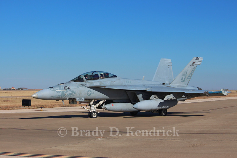 """-(Aircraft) Boeing F/A-18F Super Hornet<br /> -(Nation & Service) United States Navy<br /> -(Squadron) Strike Fighter Squadron 11 """"Red Rippers""""<br /> -(Home Base) Naval Air Station Oceana, Virginia"""