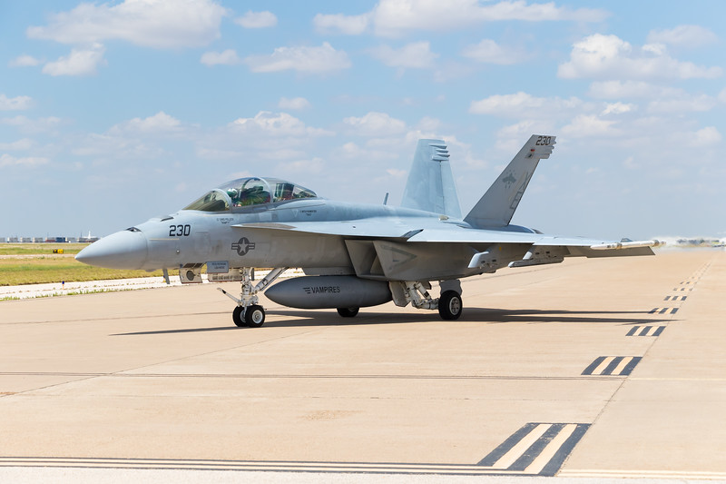 "-(Aircraft) Boeing F/A-18F Super Hornet<br /> -(Nation & Service) United States Navy<br /> -(Squadron) Air Test and Evaluation Squadron Nine ""Vampires""<br /> -(Home Base) Naval Air Weapons Station China Lake, California"