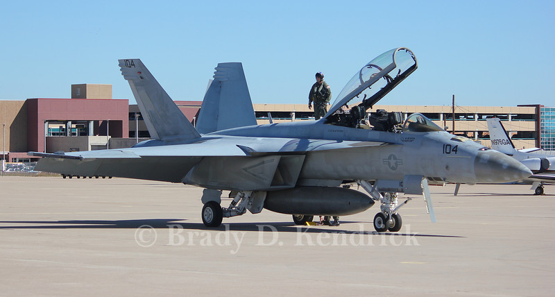 "-(Aircraft) Boeing F/A-18F Super Hornet<br /> -(Nation & Service) United States Navy<br /> -(Squadron) Strike Fighter Squadron 22 ""Fighting Redcocks <br /> -(Home Base) Naval Air Station Lemoore, California"