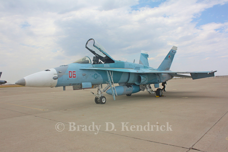 "-(Aircraft) McDonnell Douglas F/A-18A+ Hornet<br /> -(Nation & Service) United States Navy<br /> -(Squadron) Fighter Squadron Composite 12 ""Fighting Omars"" <br /> -(Home Base) Naval Air Station Oceana, Virginia"