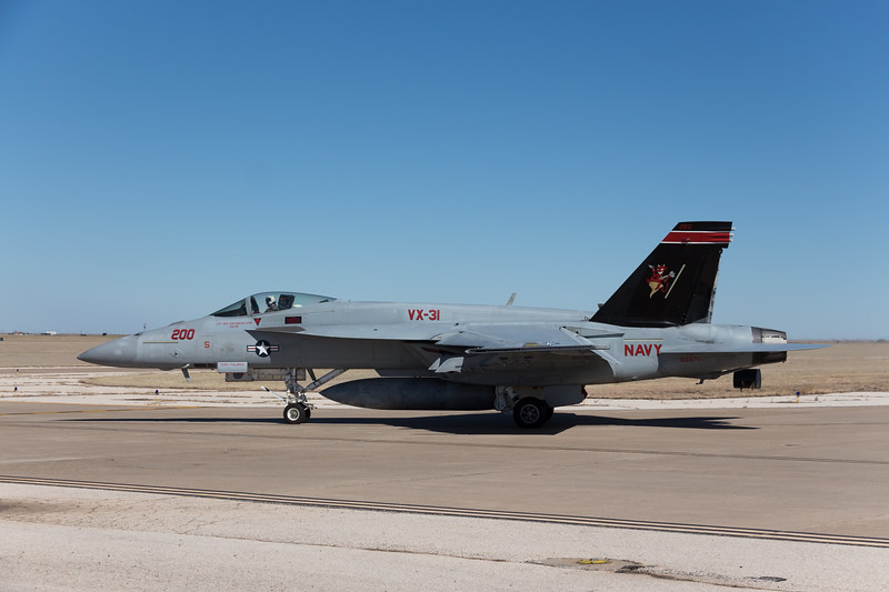 "-(Aircraft) Boeing F/A-18E Super Hornet<br /> -(Nation & Service) United States Navy<br /> -(Squadron) Air Test and Evaluation Squadron 31 ""Dust Devils""<br /> -(Home Base) Naval Air Weapons Station China Lake, California"