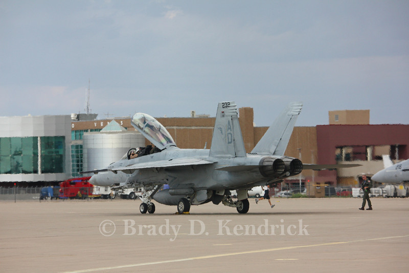 "-(Aircraft) Boeing F/A-18F Super Hornet<br /> -(Nation & Service) United States Navy<br /> -(Squadron) Strike Fighter Squadron 106 ""Gladiators"" <br /> -(Home Base) Naval Air Station Oceana, Virginia"