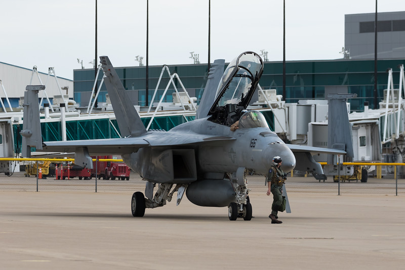 "-(Aircraft) Boeing F/A-18F Super Hornet<br /> -(Nation & Service) United States Navy<br /> -(Squadron) Strike Fighter Squadron 41 ""Black Aces""<br /> -(Home Base) Naval Air Station Lemoore, California"