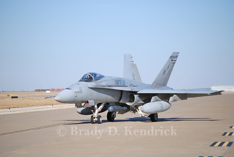 "-(Aircraft) McDonnell Douglas F/A-18C Hornet<br /> -(Nation & Service) United States Marine Corps<br /> -(Squadron) Marine Fighter Attack Squadron 112 ""Cowboys""<br /> -(Home Base) Naval Air Station Joint Reserve Base Fort Worth, Texas"
