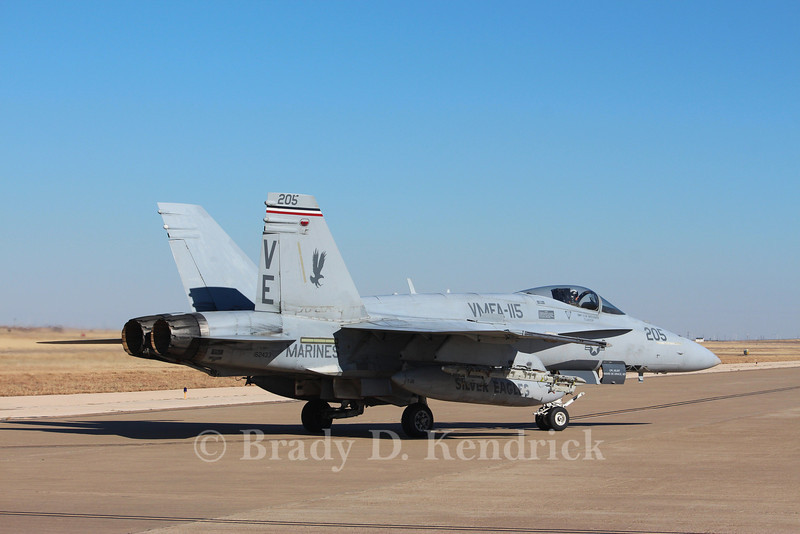 "-(Aircraft) McDonnell Douglas F/A-18A+ Hornet <br /> -(Nation & Service) United States Marine Corps <br /> -(Squadron) Marine Fighter Attack Squadron 115 ""Silver Eagles"" <br /> -(Home Base) Marine Corps Air Station Beaufort, South Carolina"