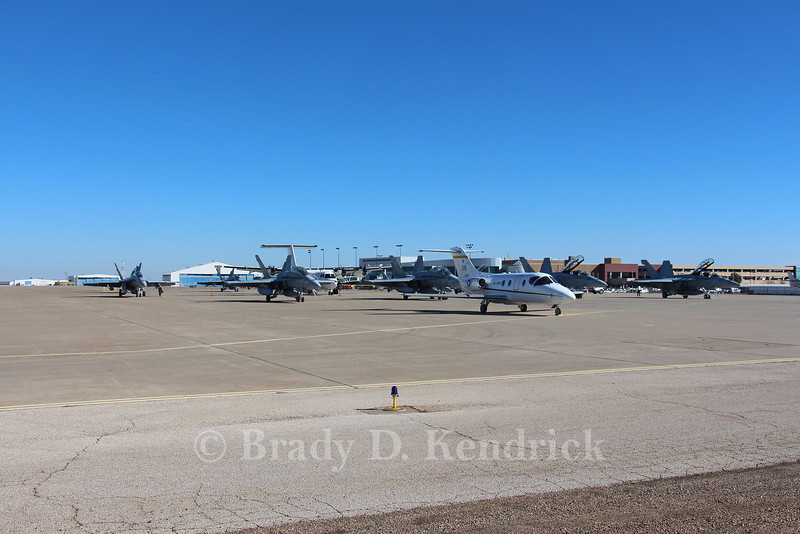 """-(Aircraft) McDonnell Douglas F/A-18A+ & Boeing F/A-18F Super Hornet<br /> -(Nation & Service) United States Marine Corps & United States Navy<br /> -(Squadron) Marine Fighter Attack Squadron 115 """"Silver Eagles"""" & Strike Fighter Squadron 106 """"Gladiators"""" <br /> -(Home Base) Marine Corps Air Station Beaufort, South Carolina & Naval Air Station Oceana, Virginia"""