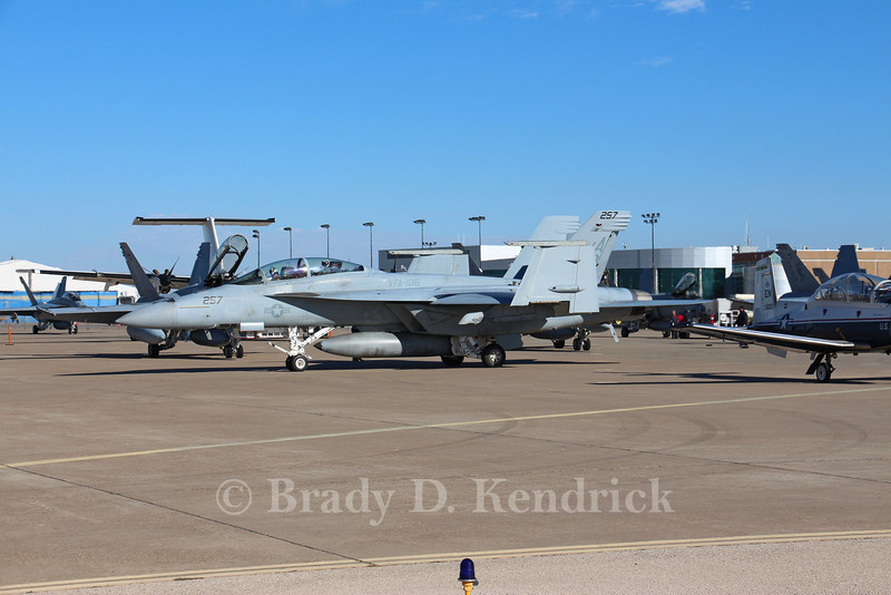 "-(Aircraft) McDonnell Douglas F/A-18A+ & Boeing F/A-18F Super Hornet<br /> -(Nation & Service) United States Marine Corps & United States Navy<br /> -(Squadron) Marine Fighter Attack Squadron 115 ""Silver Eagles"" & Strike Fighter Squadron 106 ""Gladiators"" <br /> -(Home Base) Marine Corps Air Station Beaufort, South Carolina & Naval Air Station Oceana, Virginia"