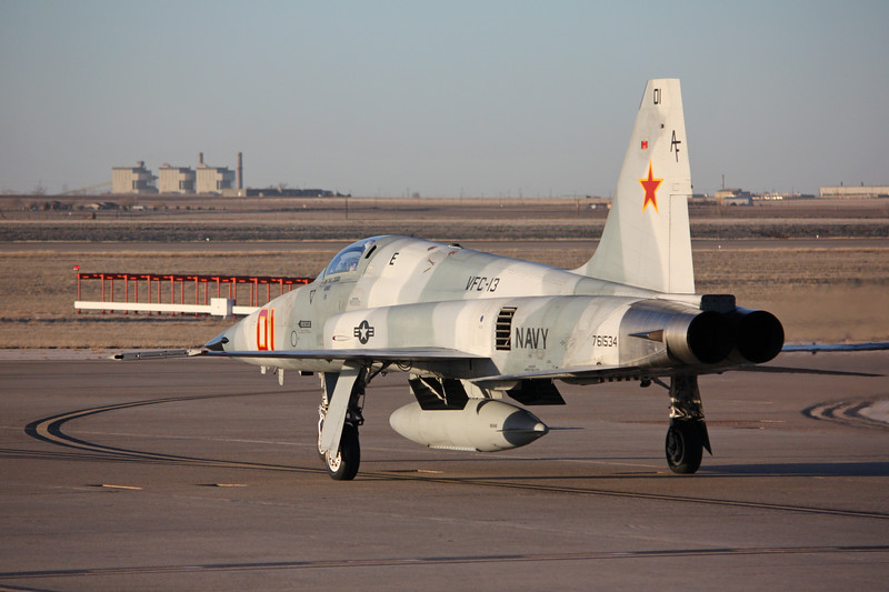 """-(Aircraft) Northrop F-5E Tiger II<br /> -(Nation & Service) United States Navy<br /> -(Squadron) Fighter Squadron Composite 13 """"Saints""""<br /> -(Home Base) Naval Air Station Fallon, Nevada"""